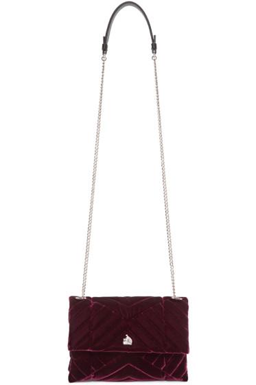 Lanvin - Burgundy Quilted Velvet Sugar Bag