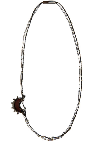Lanvin - Gunmetal Moon Necklace