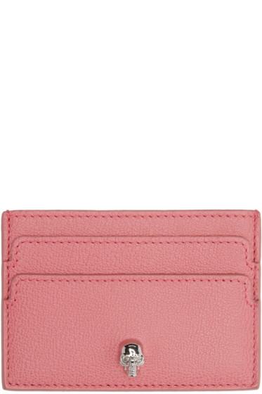 Alexander McQueen - Pink Skull Card Holder