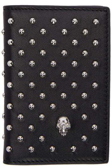Alexander McQueen - Black Studded Wallet