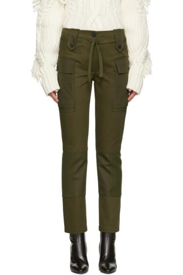 Alexander McQueen - Green Cargo Trousers