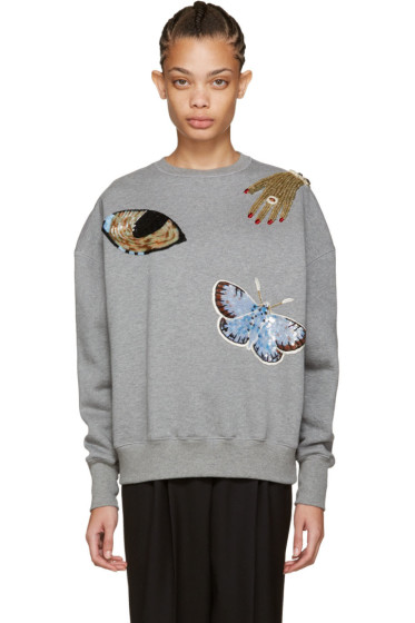 Alexander McQueen - Grey Oversized Obsession Sweatshirt