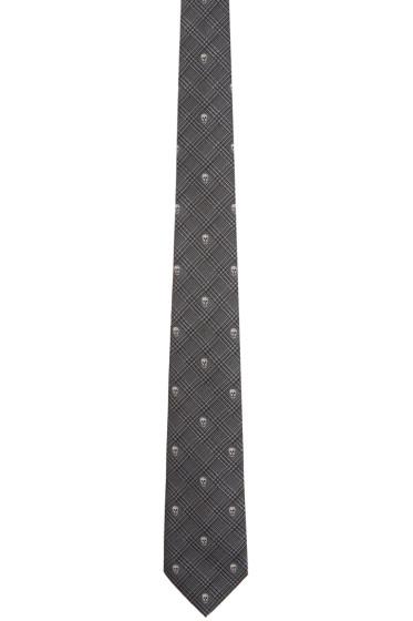 Alexander McQueen - Grey Prince of Wales & Skull Tie