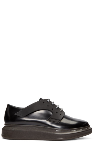 Alexander McQueen - Black Leather XL Derbys