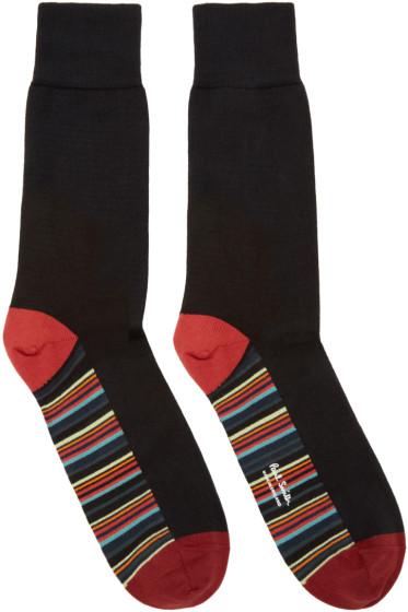 Paul Smith - Black Stripe Socks