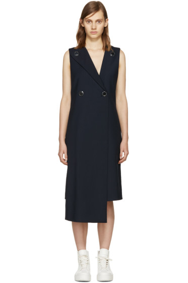 Opening Ceremony - Navy Focal Suiting Dress
