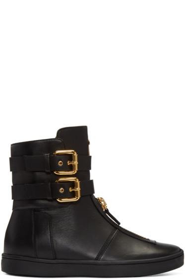 Giuseppe Zanotti - Black Double-Buckle Boots
