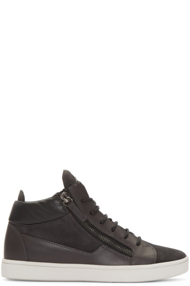 Giuseppe Zanotti - Grey London Mid-Top Sneakers