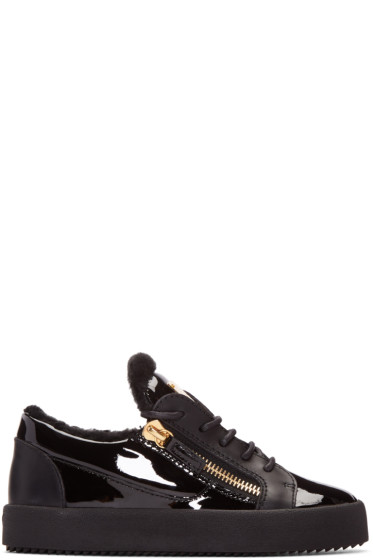 Giuseppe Zanotti - Black Patent London Sneakers