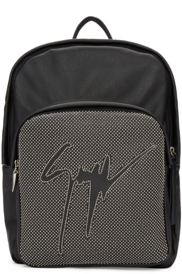 Giuseppe Zanotti - Black Leather Studded Backpack