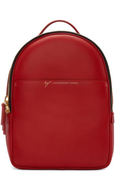 Giuseppe Zanotti - Red Leather Backpack
