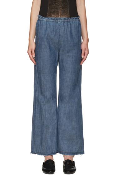 Raquel Allegra - Blue Chambray Trousers