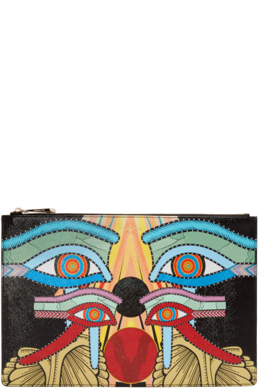 Givenchy - Multicolored Graphic Zip Pouch
