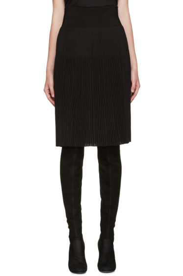 Givenchy - Back Knit Pleated Skirt