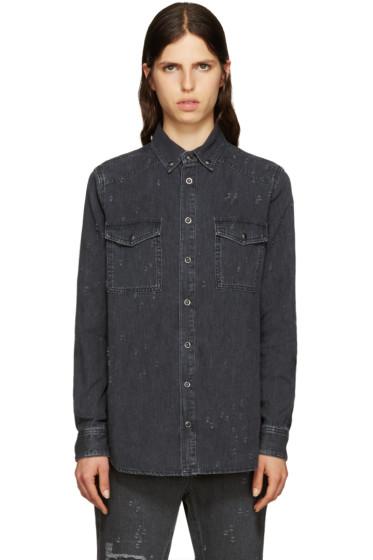 Givenchy - Grey Distressed Denim Shirt