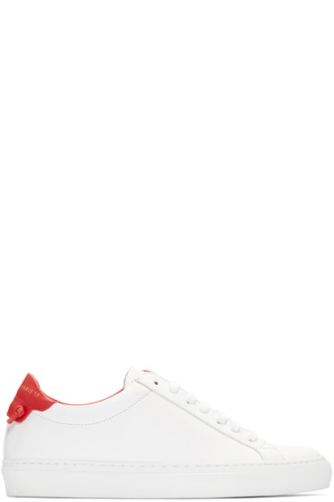 Givenchy - White & Red Urban Knots Sneakers