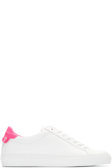 Givenchy - White & Pink Urban Knots Sneakers