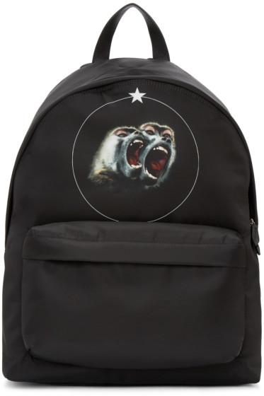Givenchy - Black Nylon Monkey Brothers Backpack