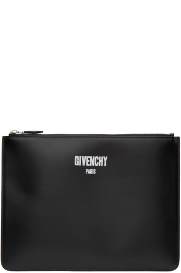 Givenchy - Black Leather Logo Pouch