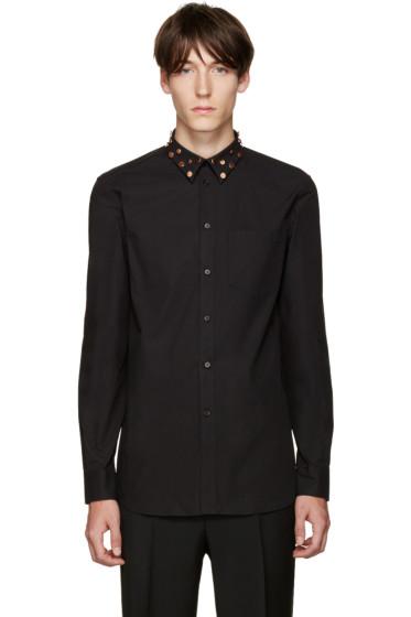 Givenchy - Black Studded Collar Shirt