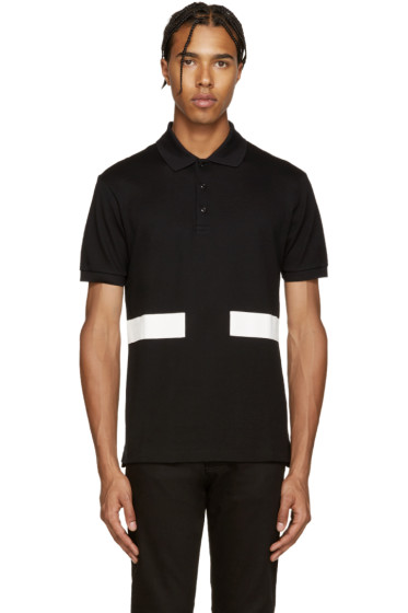 Givenchy - Black & White Bands Polo