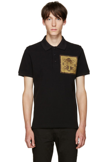 Givenchy - Black Cobra Patch Polo