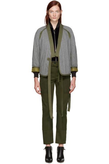 3.1 Phillip Lim - Grey Quilted Kimono Jacket