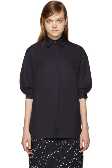 3.1 Phillip Lim - Navy Poplin Shirt