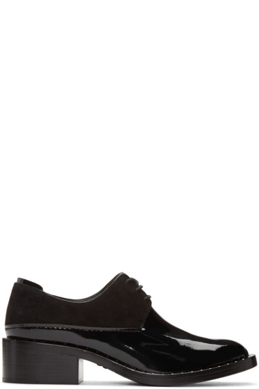 3.1 Phillip Lim - Black Patent Leather Alexa Derbys