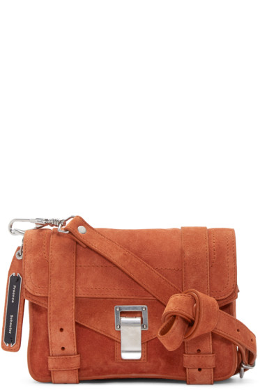 Proenza Schouler - Orange Suede Mini PS1 Bag