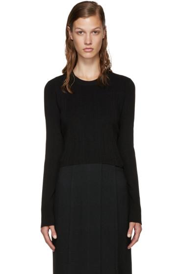 Proenza Schouler - Black Cropped Sweater