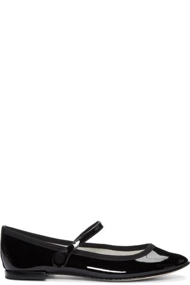Repetto - Black Patent Leather Lio Flats