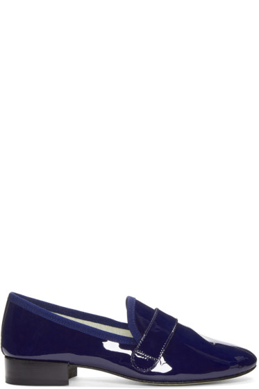 Repetto - Navy Patent Leather Michael Loafers