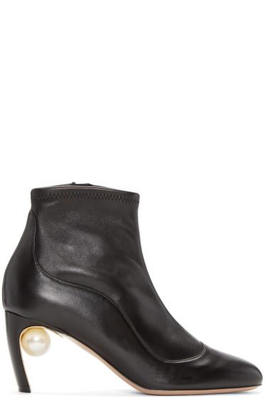 Nicholas Kirkwood - Black Maeva Pearl Ankle Boots