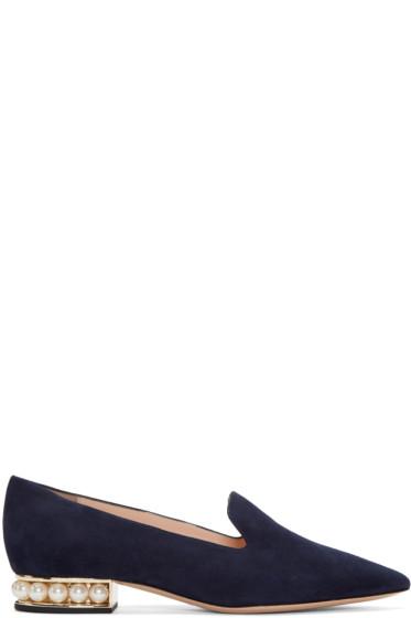 Nicholas Kirkwood - Navy Casati Pearl Loafers