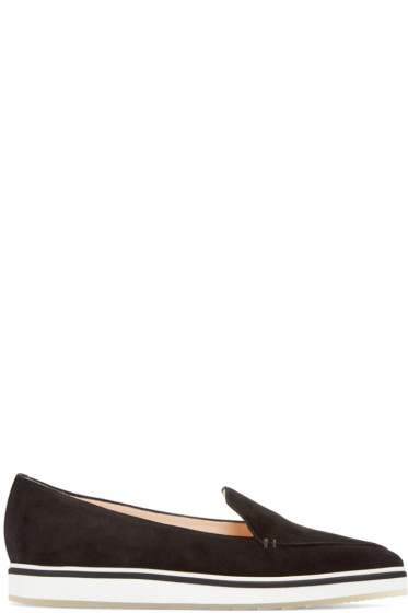 Nicholas Kirkwood - Black Suede Alona Loafers