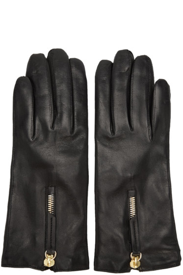 Want Les Essentiels - Black Leather Mozart Gloves