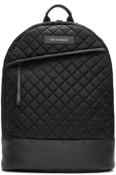 Want Les Essentiels - Black Quilted Kastrup Backpack