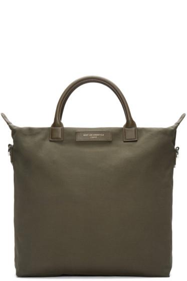 Want Les Essentiels - Green Canvas O'Hare Shopper Tote
