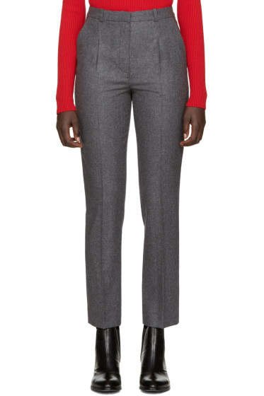 Carven - Grey Wool Flannel Trousers