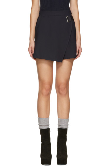 Carven - Navy Crepe Shorts
