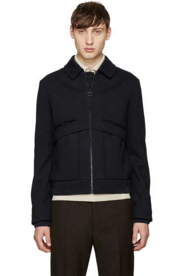 Carven - Navy Collared Bomber Jacket