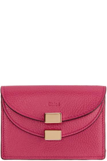 Chloé - Pink Georgia Business Card Holder