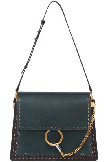 Chloé - Blue Suede Medium Faye Bag