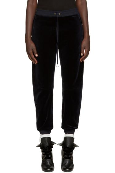 Chloé - Navy Velvet Lounge Pants