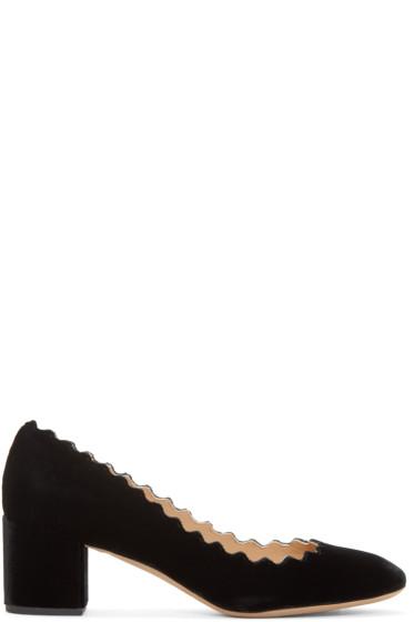 Chloé - Black Velvet Lauren Heels