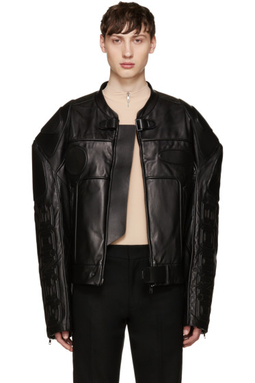 Juun.J - Black Oversized Biker Jacket