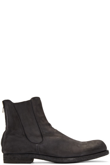 Officine Creative - Grey Suede Zip Boots