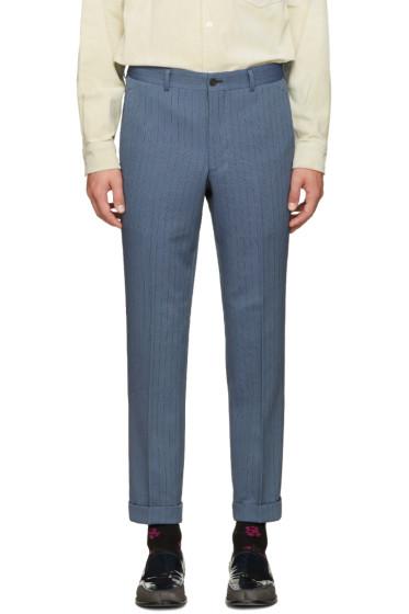 Comme des Garçons Homme Plus - Blue Pinstripe Trousers