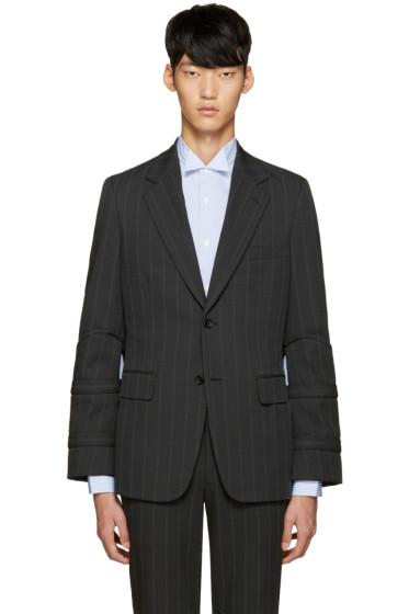 Comme des Garçons Homme Plus - Grey Striped Blazer
